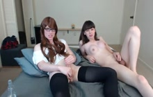 T-girl teens having fun on cam