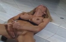 Big boobed shemale masturbating to exhaustion