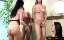 4 hot chicks with dicks having fun
